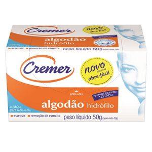 ALGODÃO CREMER HIDROF. 50GR UN PCT